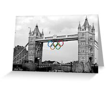 Olympic rings on Tower Bridge (selective colour) Greeting Card