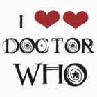 I <3 Doctor Who (black) by jabbershire