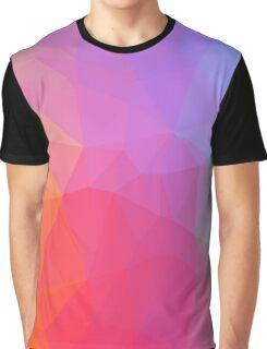 Geometric Neon Rainbow Graphic T-Shirt