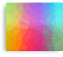 Geometric Neon Rainbow Canvas Print