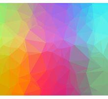 Geometric Neon Rainbow Photographic Print