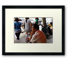 Pensive Framed Print