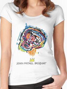 Jean Michel Basquiat Head Women's Fitted Scoop T-Shirt