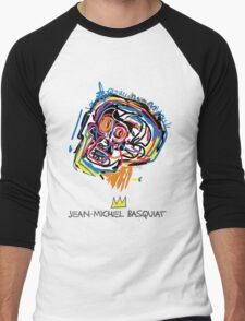 Jean Michel Basquiat Head Men's Baseball ¾ T-Shirt