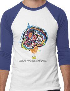 Jean Michel Basquiat Head Men's Baseball ¾ T-Shirt