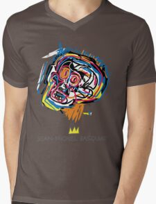 Jean Michel Basquiat Head Mens V-Neck T-Shirt