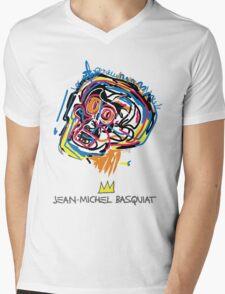 Jean Michel Basquiat Head Mens V-Neck T-Shirt