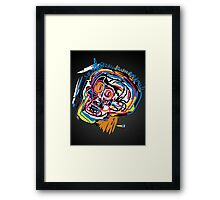 Jean Michel Basquiat Head Framed Print