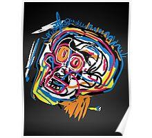 Jean Michel Basquiat Head Poster