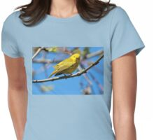 You Looking at Me? /Yellow Warbler Womens Fitted T-Shirt