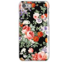 Colorful Assorted Flowers Digital Illustration iPhone Case/Skin