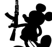 Mickey Mouse and the AK-47 by bd0m