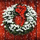 Snowy Christmas Wreath by Lois  Bryan