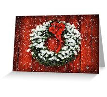 Snowy Christmas Wreath Greeting Card