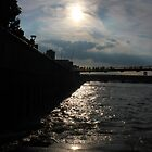 Sunset over the Thames River by ChloeFaye