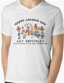 Funny Canada Day Drinking T-Shirt Mens V-Neck T-Shirt