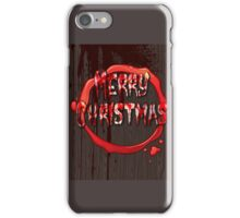 BLOODY CHRISTMAS CARD iPhone Case/Skin