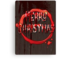 BLOODY CHRISTMAS CARD Canvas Print