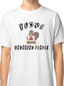 "Funny Canadian ""I Love Canadian Beaver"" T-Shirt Classic T-Shirt"