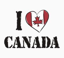I Love Canada T-Shirt by HolidayT-Shirts