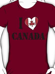 I Love Canada T-Shirt T-Shirt