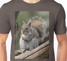 Lunch time! (Gray squirrel) Unisex T-Shirt