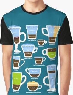 Espresso-Based Drinks Guide Graphic T-Shirt