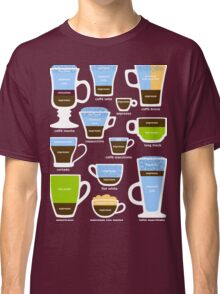 Espresso-Based Drinks Guide Classic T-Shirt