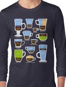 Espresso-Based Drinks Guide Long Sleeve T-Shirt