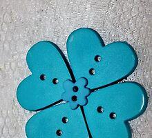 Blue Heart Flower [iPhone - iPod Case] by aprilann