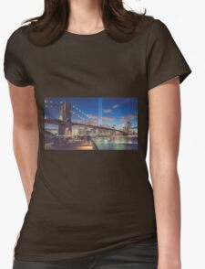 Trubute in Lights Womens Fitted T-Shirt