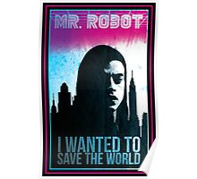 Mr. Robot retro Poster