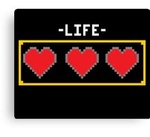 LIFE HEARTS Canvas Print