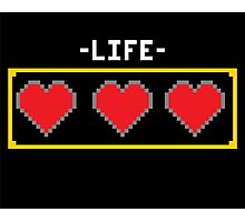 LIFE HEARTS Photographic Print