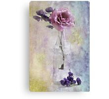 A Dusty Pink Rose Canvas Print