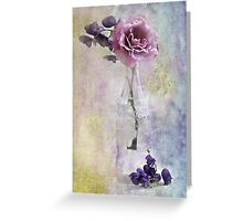 A Dusty Pink Rose Greeting Card