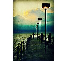 Pier in Cleveland Photographic Print