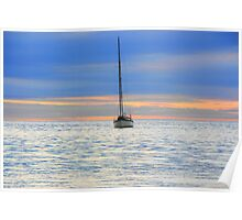 Sunset boat trip Poster