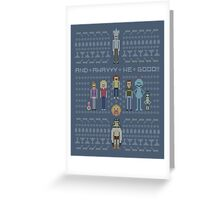 Rick and Morty Family Portrait Greeting Card