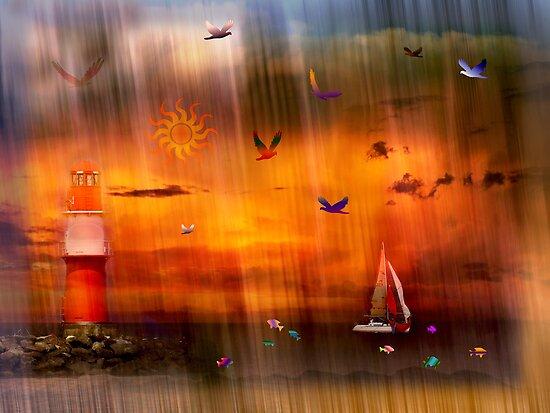 Sun Shower by Lucinda Walter