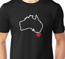 I Love Tasmania Map Unisex T-Shirt
