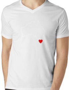 I Love Tasmania Map Mens V-Neck T-Shirt