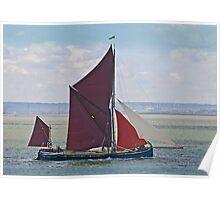 Thames Barge Majorie Poster