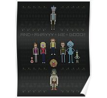Rick and Morty Family Portrait DARK VERSION! Poster