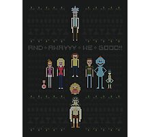 Rick and Morty Family Portrait DARK VERSION! Photographic Print