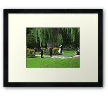 August bride Framed Print