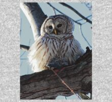 Adorable Barred Owl With Prey One Piece - Long Sleeve