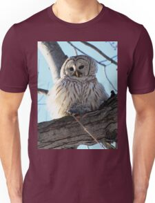 Adorable Barred Owl With Prey Unisex T-Shirt