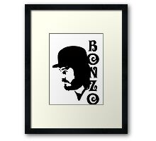 SOLID BLACK BONZO Framed Print