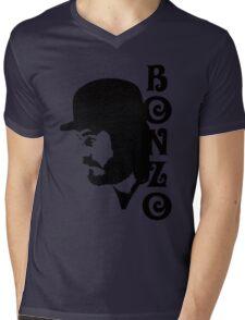 SOLID BLACK BONZO Mens V-Neck T-Shirt